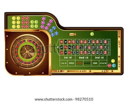 european roulette table.