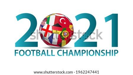 European Soccer 2021 Background Illustration