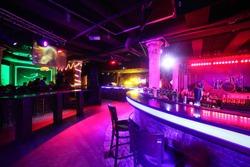 european stylish night club with bright lights