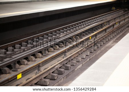 European Suburban Subway Tracks #1356429284