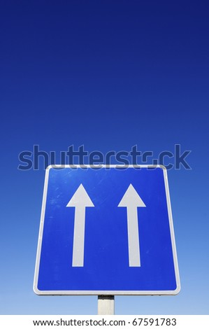 european traffic sign indicating  that we are in a one-way  road
