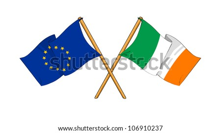 European Union and Ireland alliance and friendship