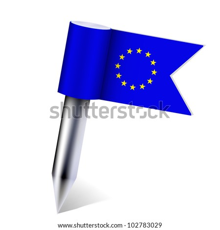 European Union country flag isolated on white