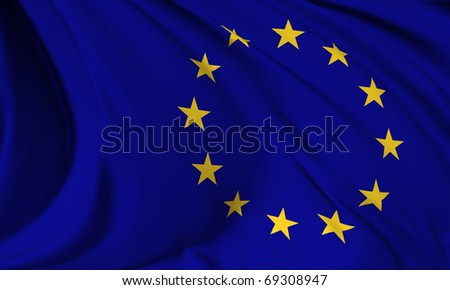 european union flag hires collection stock photo 69308947