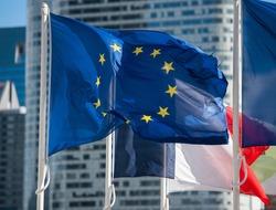 European Union flag in detail