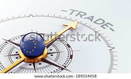 European Union High Resolution Trade Concept