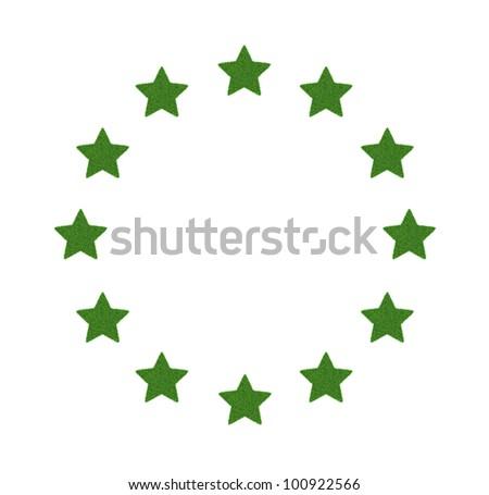 European Union symbol of green grass