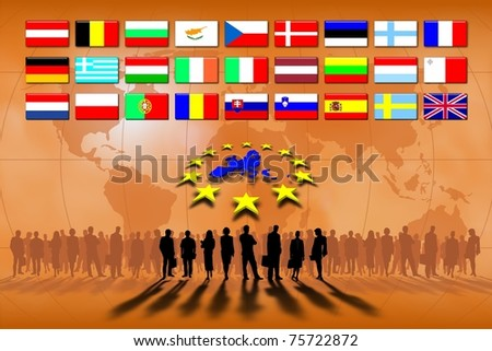 European Union: work team and commerce