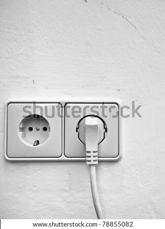 European wall outlet