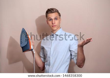 European white guy with iron.