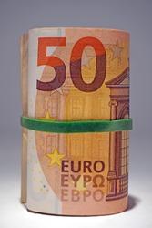Euros - Money - 50 euro cash background. Euro Money Banknotes - tangent policy
