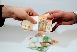 Euros - Money - euro cash background. Euro Money Banknotes - tangent policy