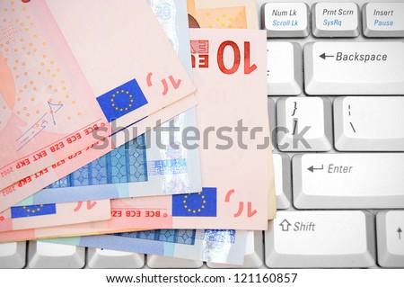 Euros on the keyboard.