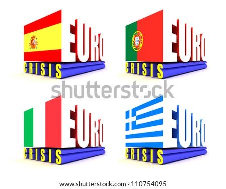 Eurozone Crisis - stock photo