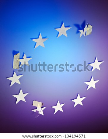 Eurozone crisis, the conceptual image. - stock photo