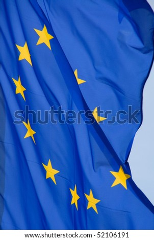 eurpean flag with golden stars