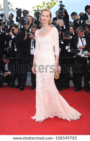 Eva Herzigova at the 'Moonrise Kingdom' premiere - during the 65th Cannes Film Festival Cannes, France. 16/05/2012 Picture by: Henry Harris / Featureflash