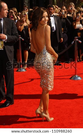 Eva Longoria  arriving at the 59th Annual Primetime Emmy Awards. The Shrine Auditorium, Los Angeles, CA. 09-16-07