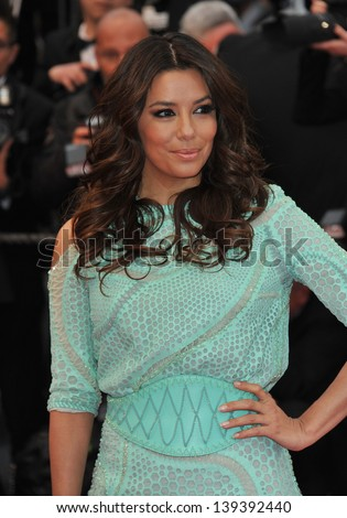 "Eva Longoria at the gala premiere of ""Jimmy P. Psychotherapy of a Plains Indian"" in competition at the 66th Festival de Cannes. May 18, 2013  Cannes, France"