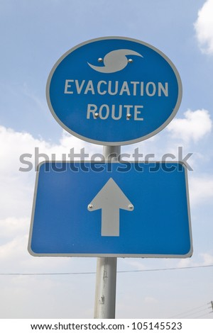 Evacuation Route sign in Pensacola Florida