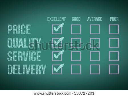 evaluate customer survey form illustration design over a white background