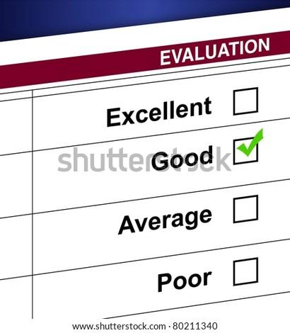 Evaluation list and check box illustration design