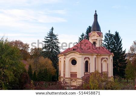 Evangelical church in Miskoc, Hungary  Stock fotó ©