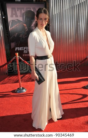"""Evangeline Lilly at the Los Angeles premiere of her new movie """"Real Steel"""" at Universal Studios Hollywood. October 2, 2011  Los Angeles, CA Picture: Paul Smith / Featureflash - stock photo"""