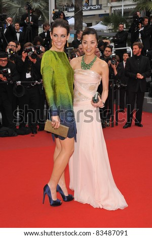 "Evangeline Lilly & Michelle Yeoh at the premiere of Woody Allen's ""You Will Meet A Tall Dark Stranger"" at the 63rd Festival de Cannes. May 15, 2010  Cannes, France Picture: Paul Smith / Featureflash"