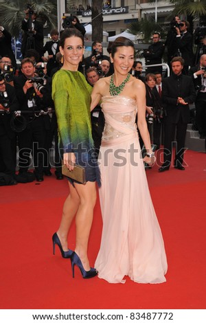 """Evangeline Lilly & Michelle Yeoh at the premiere of Woody Allen's """"You Will Meet A Tall Dark Stranger"""" at the 63rd Festival de Cannes. May 15, 2010  Cannes, France Picture: Paul Smith / Featureflash"""