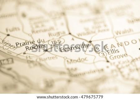 Evansville Illinois Map.Evansville Illinois Usa Ez Canvas