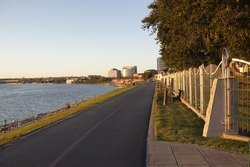 Evansville Indiana riverfront and walkway