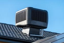 Evaporative Cooler Installed on Roof