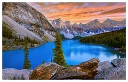 Evening at Moraine Lake, Alberta, Canada