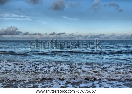 evening at the Coral Sea, Pacific Ocean, North Australia