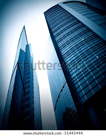 evening blue glass business center