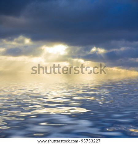 Evening Happiness Peaceful Waters #95753227