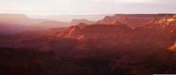 Evening haze over the Grand Canyon