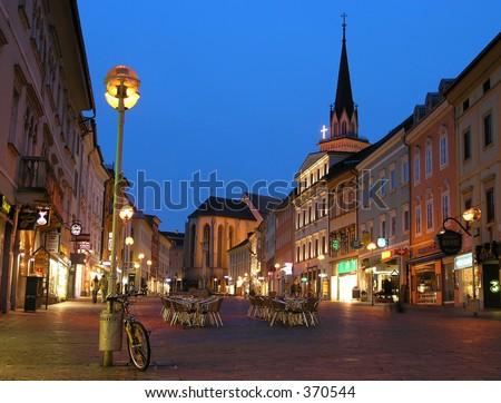 Evening in Villach - stock photo