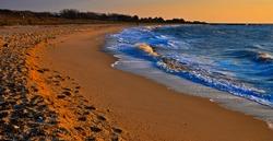 Evening light on Sunset Beach, Cape May, New Jersey