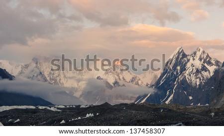 Evening Mood in the Karakorum Mountains, Pakistan