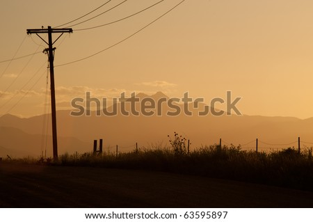 Evening On A Country Road - stock photo