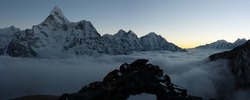 evening or night view of Ama Dablam - trek to Everest Base Camp - Nepal