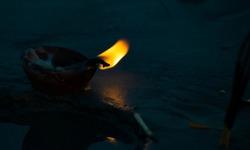 evening prayer gangasagar mela after sunset