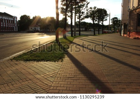 Evening run. Walking. Healthy and happy woman. End of the day, europe, walk, city, road, street, walk, evening, sunset, romance, summer evening, summer mood, love, beauty, see beauty, sun shine. Love.