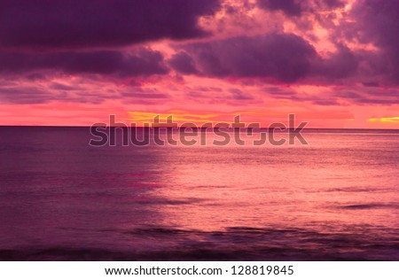 Evening Scene Bright Horizon