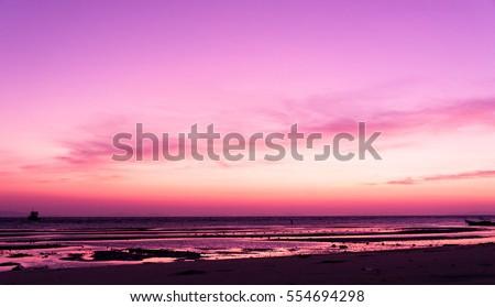 Evening Scene Fiery Backdrop  #554694298