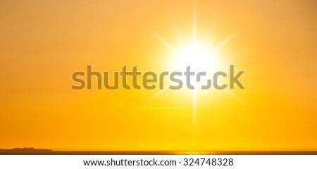 Evening Scene Setting Sun  #324748328