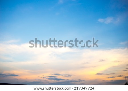 Evening sky  - Shutterstock ID 219349924