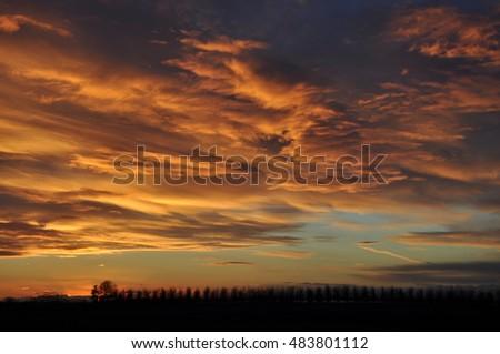 Evening sky #483801112